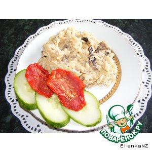 Рецепт Паста с куриной грудкой, шампиньонами и вялеными томатами