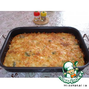 Рецепт Пирог с брокколи и цветной капустой