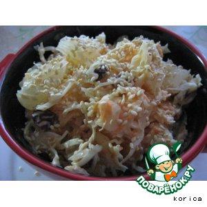 Рецепт Салат из капусты с мандаринами