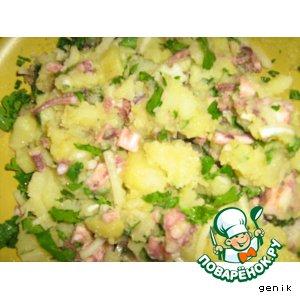 Рецепт Салат картофельный с осьминожками
