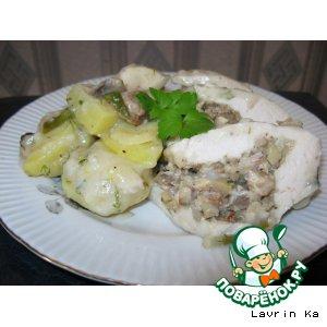 Рецепт Куриное филе с овощами на пару