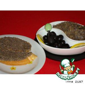 Рецепт Паста для бутербродов орехово-оливковая
