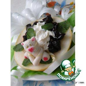 Рецепт Десерт «Тигриная лодочка удачи»