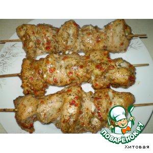 Готовим Шашлычки куриные домашний рецепт приготовления с фотографиями