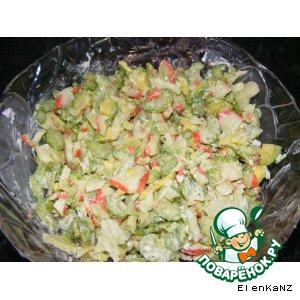 Рецепт Салат из крабового мяса с авокадо