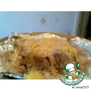 Рецепт Запечeнное мясо с кабачками и сыром
