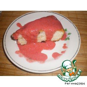 Рецепт Клубничный тортик с изюминкой