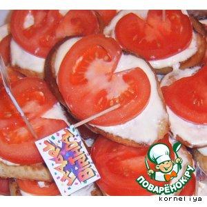Рецепт Бутерброды на обжареном хлебе с помидорами