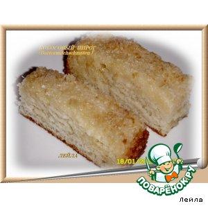 Рецепт Кокосовый пирог  (Вuttermilchschnitten)
