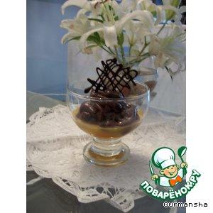 """Рецепт Шоколадный мусс на мандариновой """"подушке"""""""
