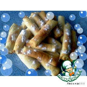 Рецепт: Ореховые трубочки