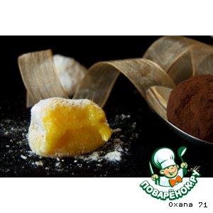 Рецепт Трюфели из белого шоколада, шафрана и сушеного абрикоса