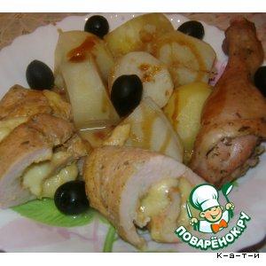 Рулеты куриные с картофелем