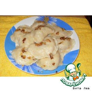 Рецепт Вареники с секретом с гречнево-грибной начинкой