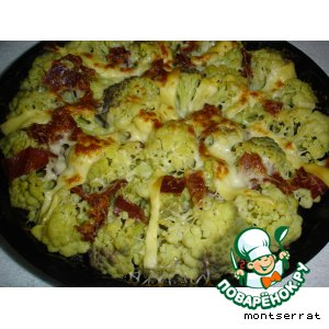 Рецепт Брокколи, запеченная с сыром и ветчиной
