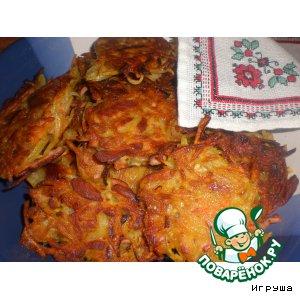 Рецепт Украинские деруны с салом