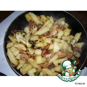"""Рецепт Картофель с грибами """"Простейший"""""""