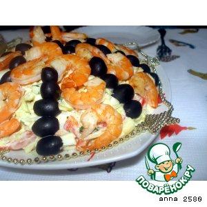 Рецепт Салат с ТИГРовыми креветками