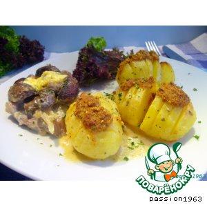 Рецепт Печеная картошка-гармошка под соусом бешамель