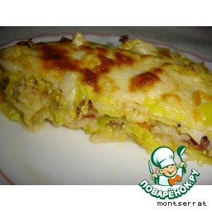 Рецепт Капуста с рисом и овощами