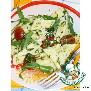 Рецепт Паста с помидорами черри и рукколой