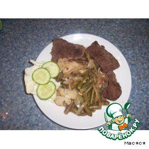 Рецепт Ароматное мясо, запеченное в рукаве с овощами