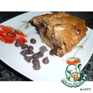 Рецепт Яблочный кекс с шоколадом