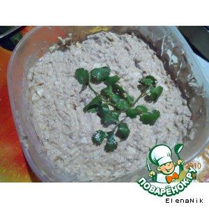 Рецепт Рыбный салатик на скорую руку