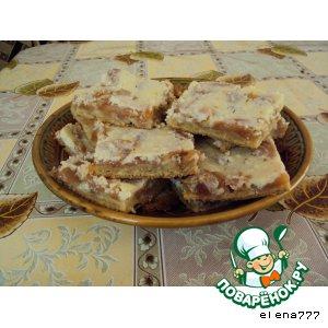 Рецепт Кокосово-яблочные квадратики с творожной заливкой