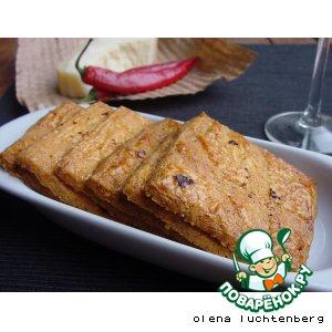 Рецепт Сырно-пряные крекеры