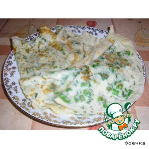 Рецепт Блины с зеленью