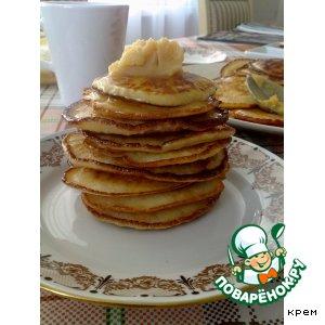 Рецепт Оладьи с медовым маслом