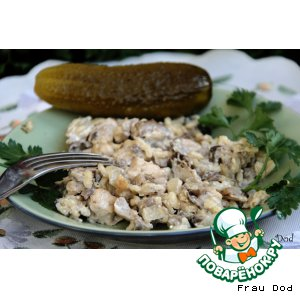 Рецепт Рис с грибами, курицей и творогом