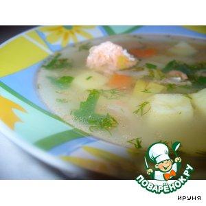 Рецепт Суп из форели с вином