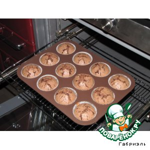 Рецепт Шоколадно-кримчизовые маффины