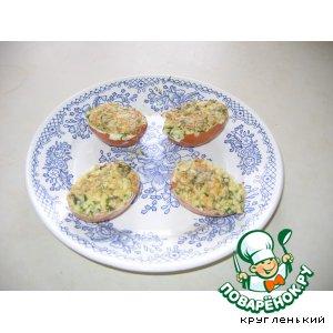 """Рецепт Фаршированные яйца """"Сытный завтрак"""""""