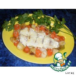 Рецепт Гратэн из Рыбы и Овощей под Соусом