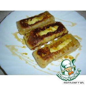 Рецепт Блинчики с мандариновой начинкой