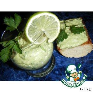 Рецепт Соус из Авокадо с Гренками