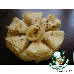 Рецепт Домашние тонкие блинчики