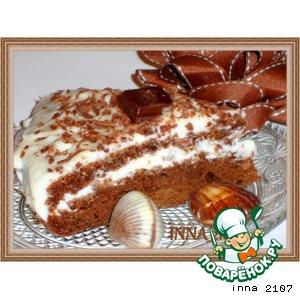 Рецепт Шоколадно-тыквенный торт с вишней