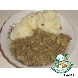 Рецепт Печенка, тушенная с капустой