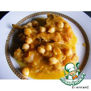 Рецепт Баранина с нутом с тывкенном соусе