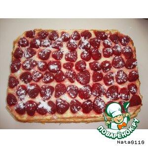 Рецепт Творожно-клубничный пирог