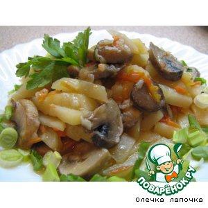 Рецепт Картофель, тушенный с грибами