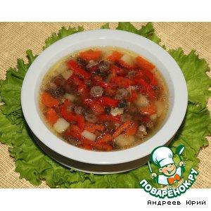 Рецепт Домашний суп с куриными сердечками