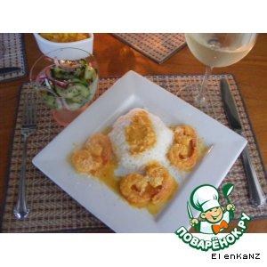 Рецепт Креветки с сальсой из манго и ананаса