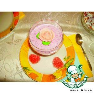 Рецепт Творожно-черничный десерт