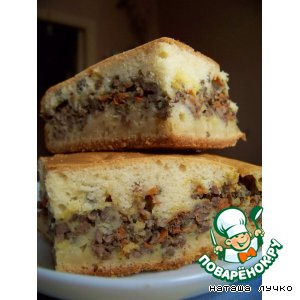 Рецепт Закусочный пирог с печeнкой