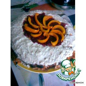 Рецепт Блинный пирог на томатном соке